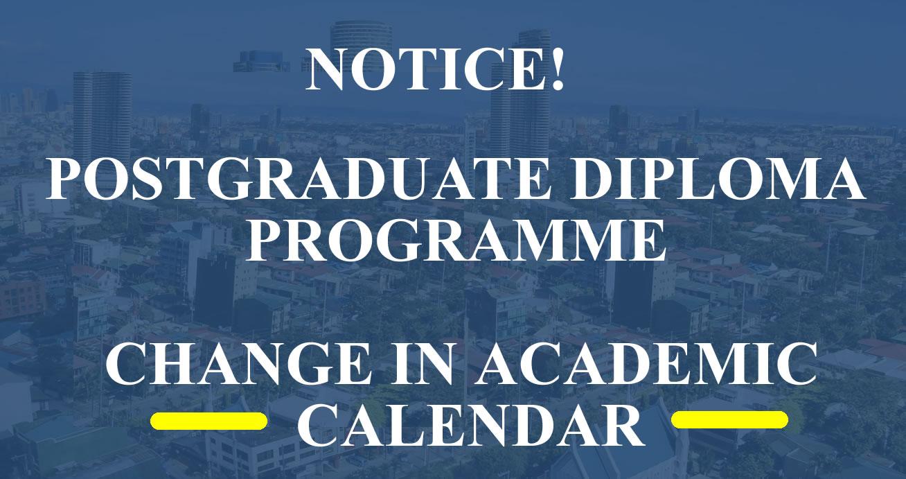 Change in PGD Calendar